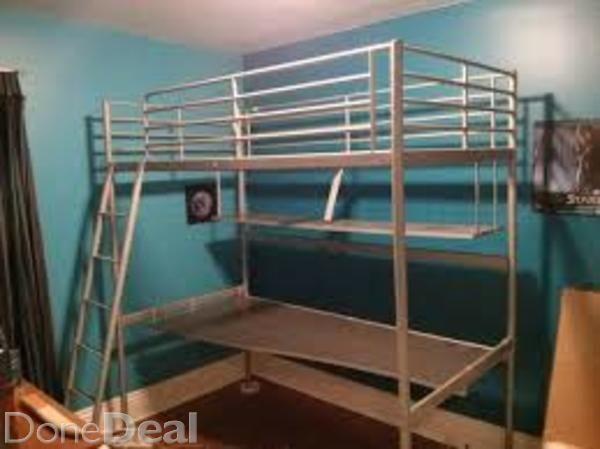 BARGAIN Svarta Loft Bed from IKEA with Desk  Kids