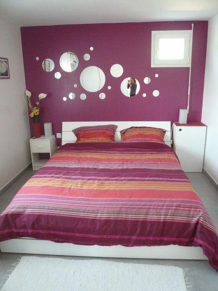 Chambre adulte  Prune et Blanc  Deco  Pinterest