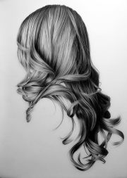 realistic hair drawing 've