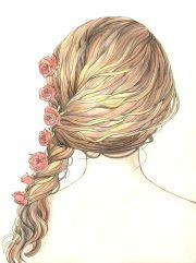 art drawings braid cute drawing
