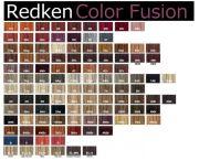 redken hair color chart carol
