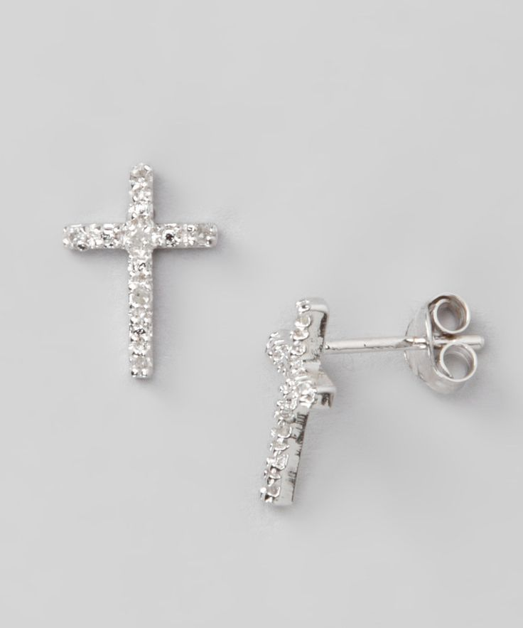 25+ Best Ideas about Diamond Cross Earrings on Pinterest