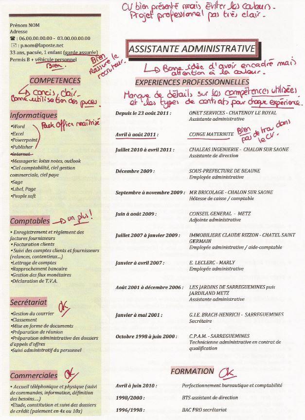 image lettre de motivation assistante administrative modele cv