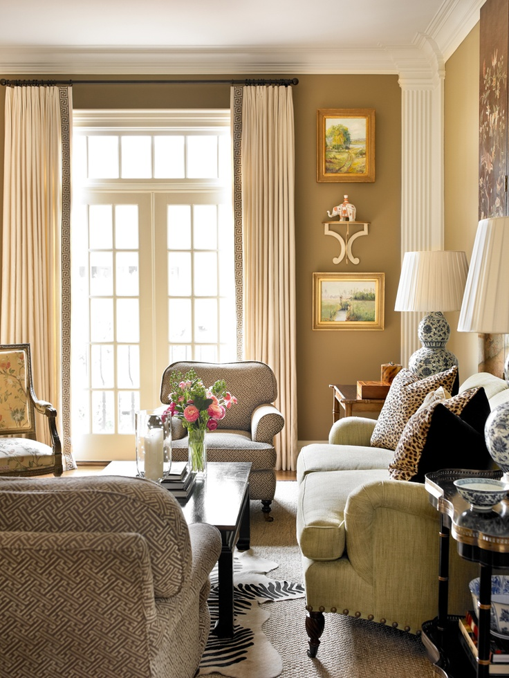 light grey walls white trim living room small with no coffee table one of my favorite paint colors, farrow & ball's dauphin ...