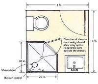 corner shower for a small bathroom | Designing showers for ...