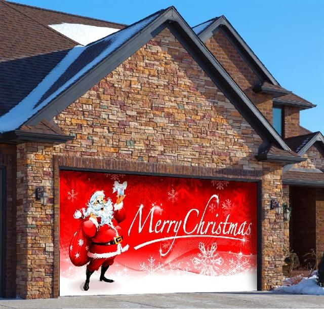 1000+ images about Christmas Garage Door Decor on