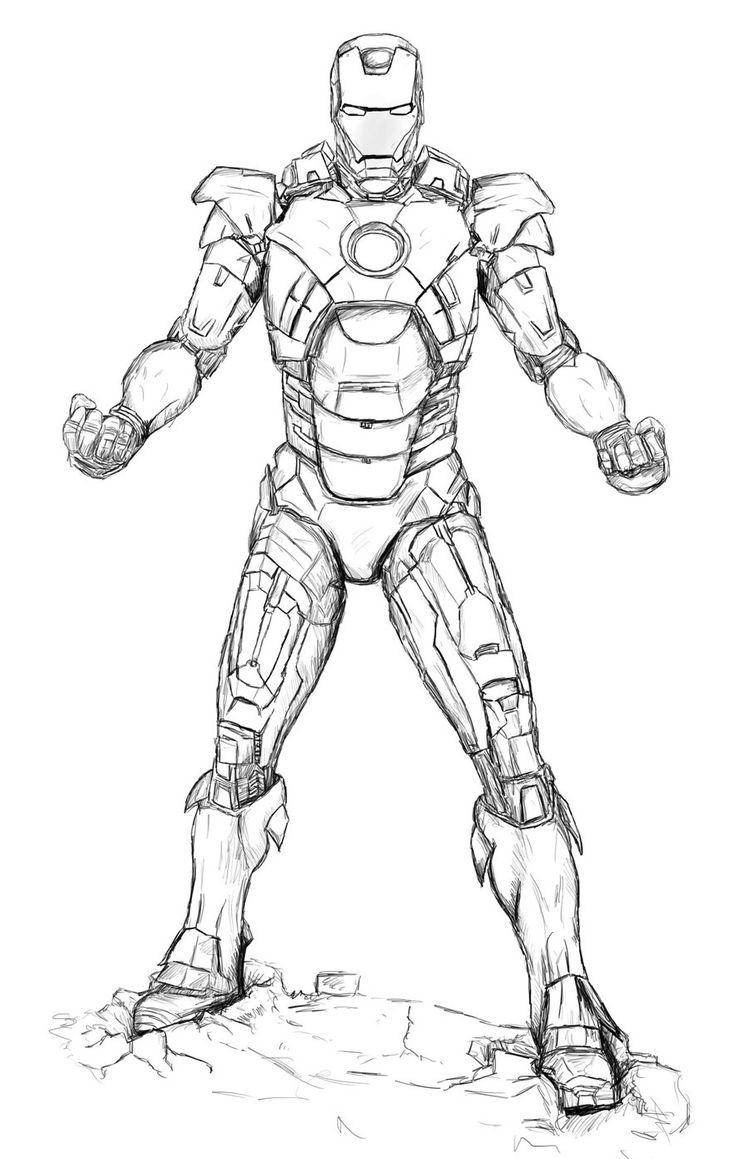 Wonderful Iron Man Coloring Pages For Kids http