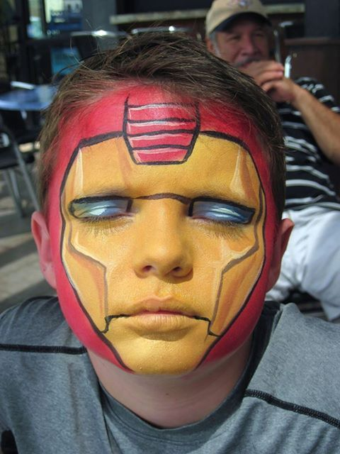 Iron Man face painting pictures Pinterest Ironman