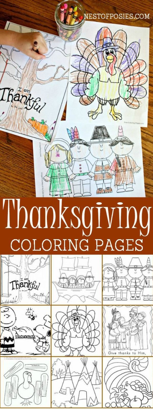 Thanksgiving Coloring Pages- keep little people occupied this Thanksgiving with these.: