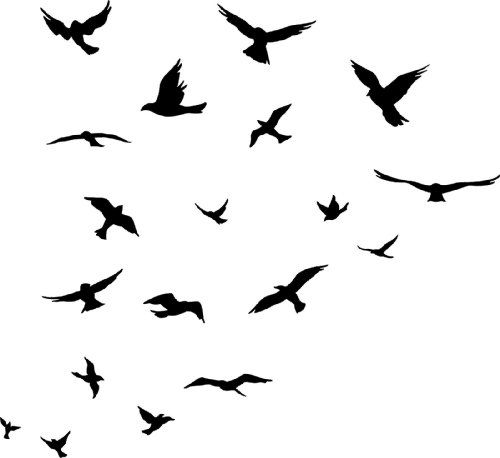 Top 25 ideas about Bird Silhouette Tattoos on Pinterest