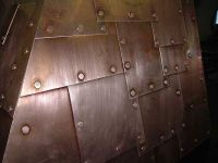 Riveted wall panel concept | Copper Mine Suite | Pinterest ...