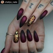 burgundy matte nails ideas