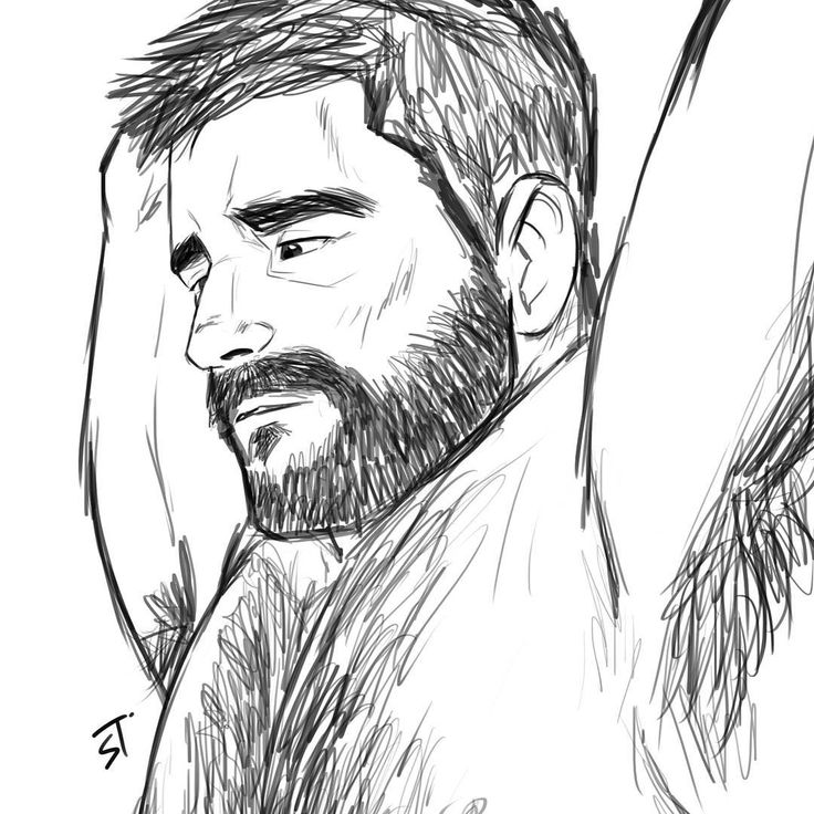 """""""Test Speed sketch in the office ⌚'Hairy man' :reference"""