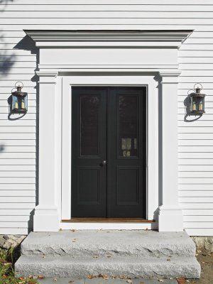 Black Front Door Front Entry Surround And Double Door