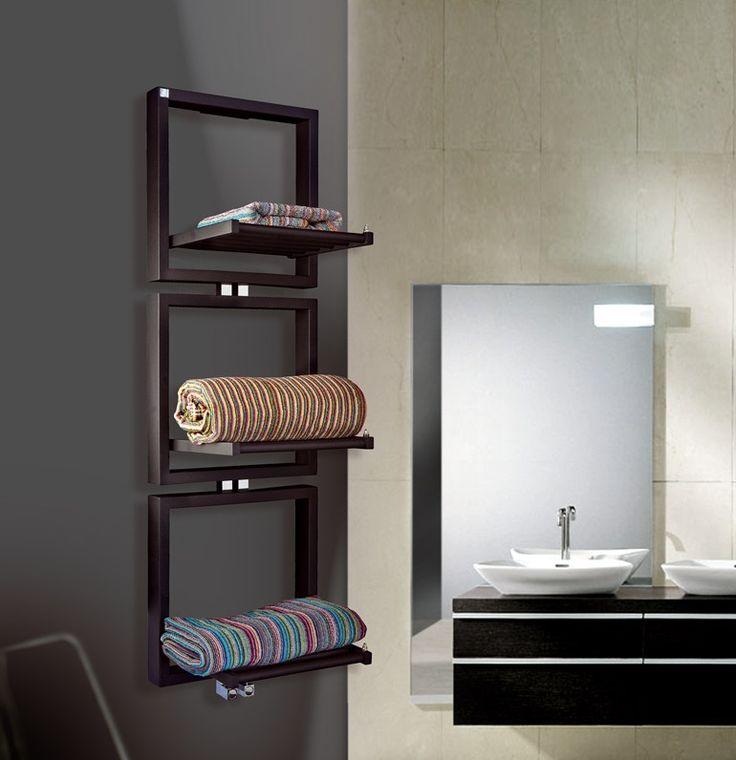 Towel warmer TRIS by DELTACALOR  design Peter Jamieson