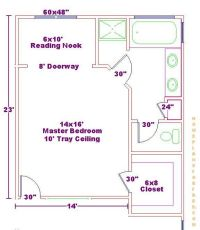 14x16 Master Bedroom Floor Plan with Bath and Walk In ...