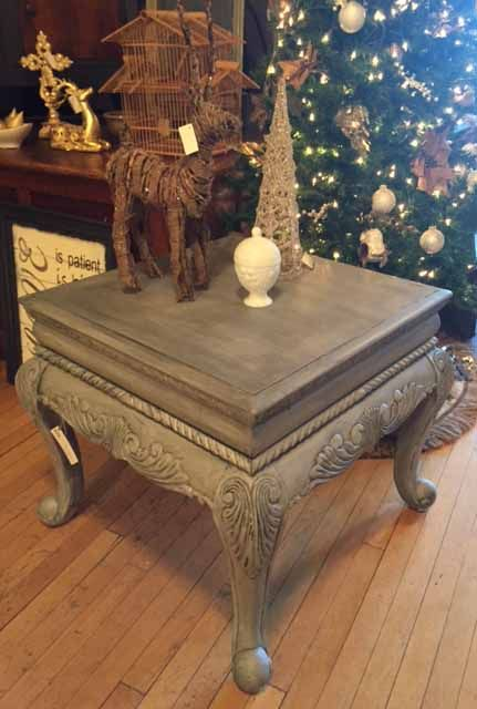 End Table In Paris Grey Chalk Paint And A Graphite Wash