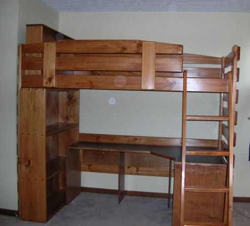 Bunk Beds With Bookcase Headboards Amazing Riley Bookcase
