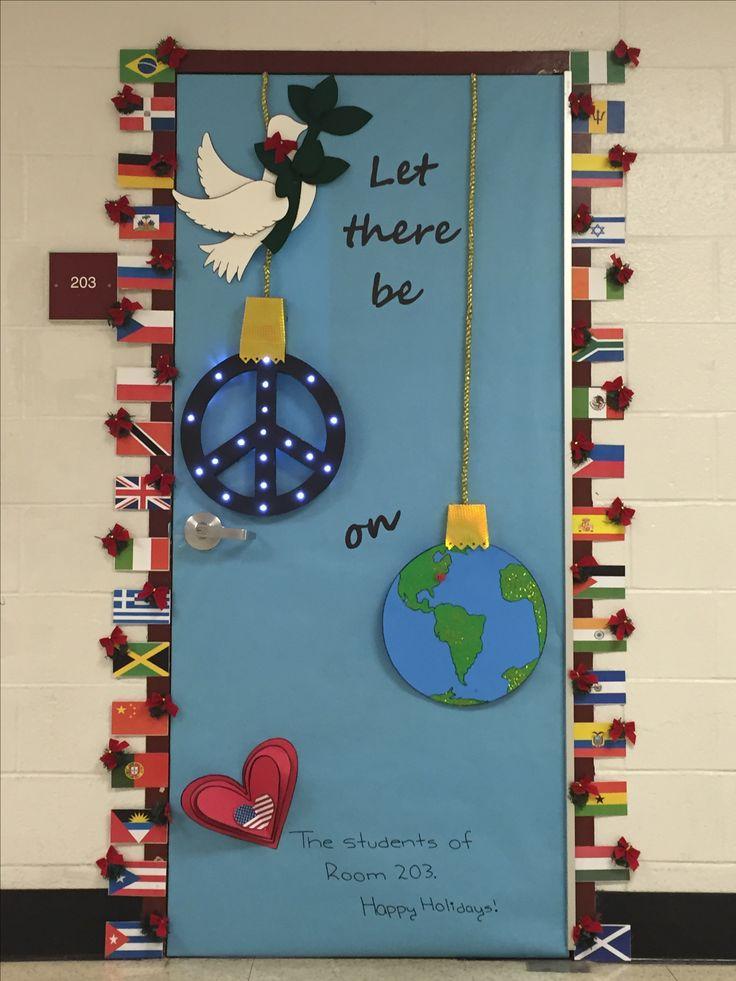 Christmas Door Decorations Elementary School