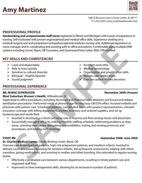 registered nurse resume examples - Resume Examples For Nursing