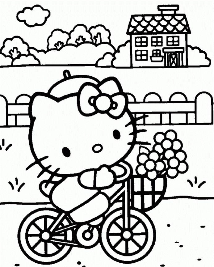 Coloring Pages For Birthdays Coloring Pages Hello Kitty