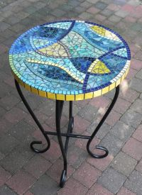 Stained Glass Mosaic Coffee Table, Side Table, Plant Stand ...