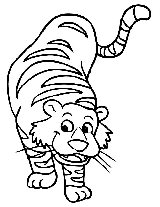 Tiger Coloring Pages For Kids Printable http