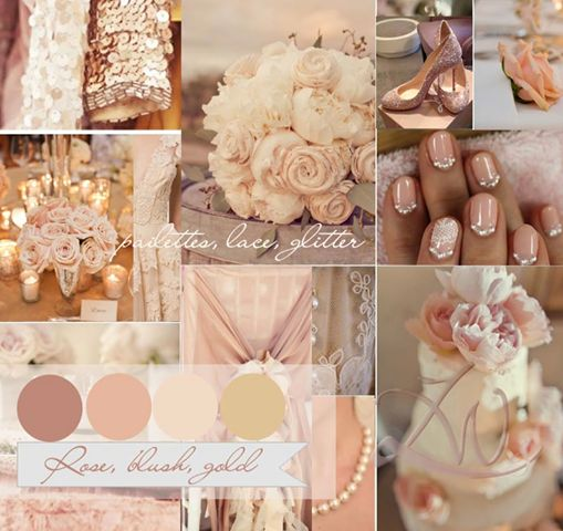 Possible Wedding Colour Scheme Dusty Rose Champagne