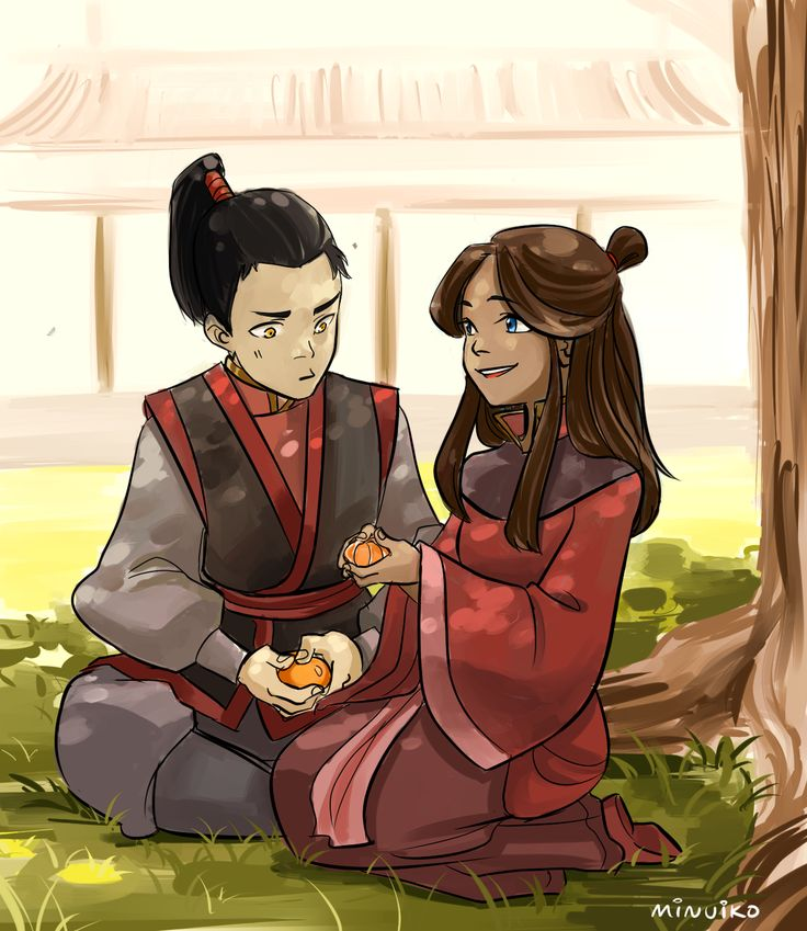 "Minuiko: ""Katara is captured in a fire nation raid and raised under Iroh (and becomes childhood friends with Zuko)."" For Zutara"