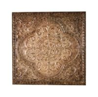 "Tuscan embossed ceiling tile design 31"" square wall decor"