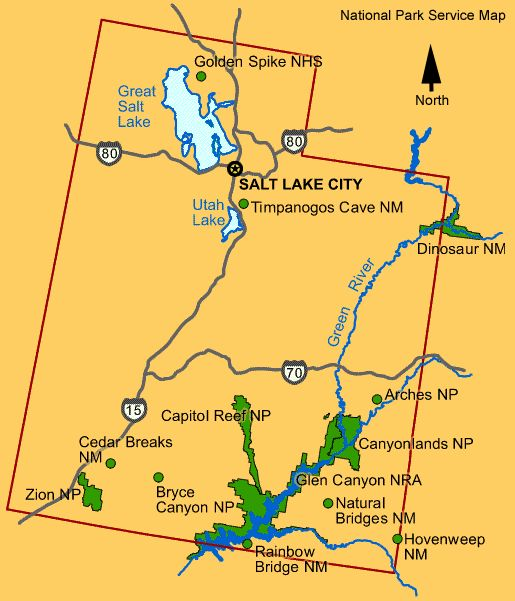 Canyonlands National Park Utah Map Utah National Parks