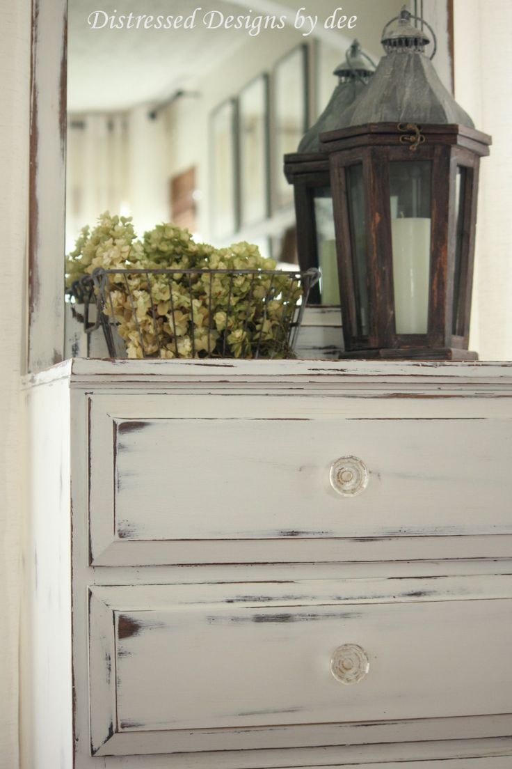 25+ best ideas about White Distressed Furniture on