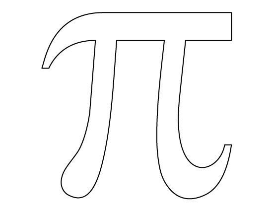Pi pattern. Use the printable outline for crafts, creating
