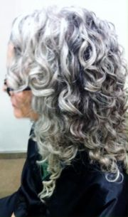 ideas curly gray