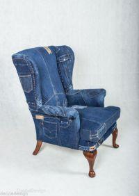 Denim Jeans Wingback Armchair Parker Knoll sofa chair ...