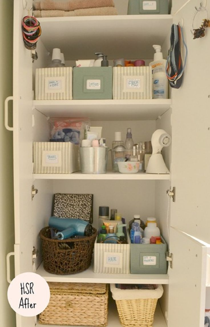 1000 images about Bathroomlinen closet organizing ideas