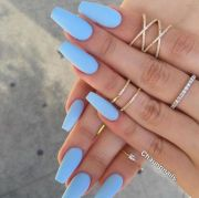 periwinkle nails coffin nails