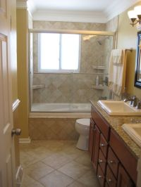 bathroom remodels before and after | Warm, small master ...