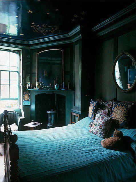 title | Dark Green Bedroom