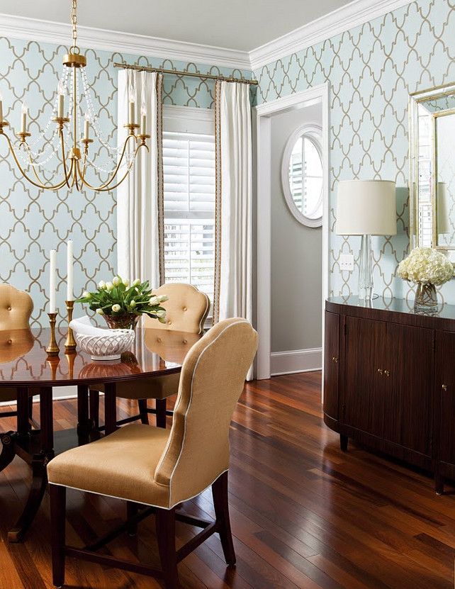 25 Best Ideas about Dining Room Wallpaper on Pinterest