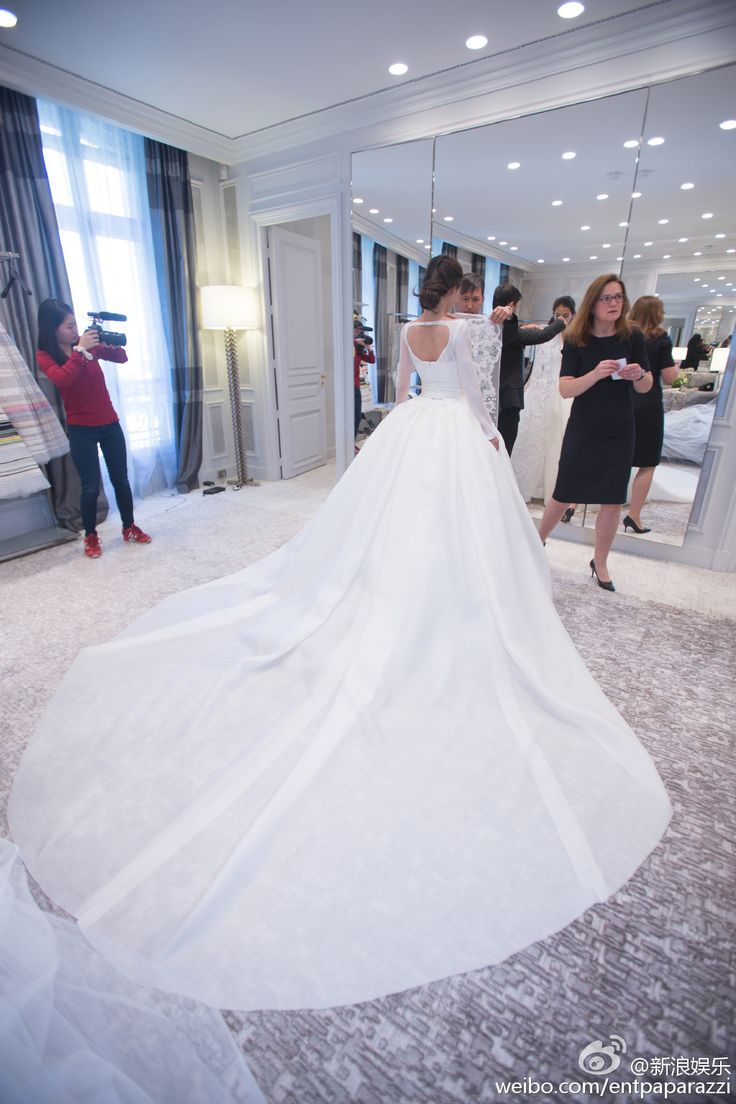 Angelababys Wedding of the Year  Angelababy in a customized Dior couture wedding gown
