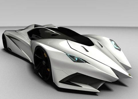Lamborghini's Ferruccio 2012 concept car – I think Batman would approve (in black, of course)