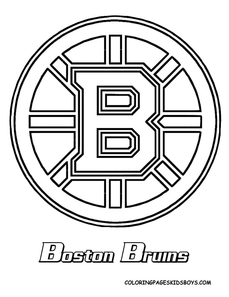 bruins coloring page  bruins and red sox and sports