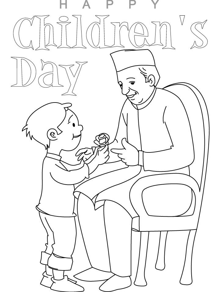 Printable Children's Day Coloring pages for kids