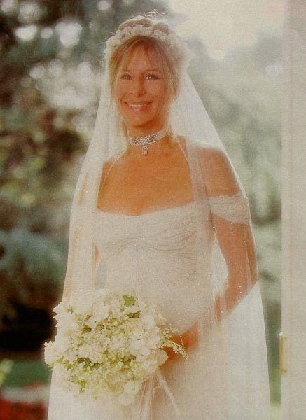BarbraStreisandJamesBrolinWedding   1998  Barbra Streisands Wedding Day married actor