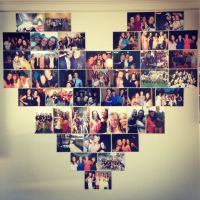 Heart Photo Collage. Uni wall. Res Life