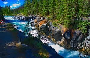 Numa Falls Canada Wallpaper Numa Falls Kootenay National Park Canada Places