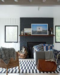 25+ best ideas about Black fireplace on Pinterest   Black ...