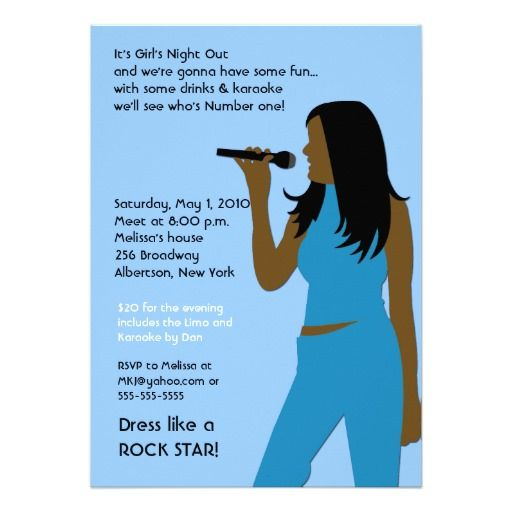 344 Best Images About Karaoke Birthday Party Invitations