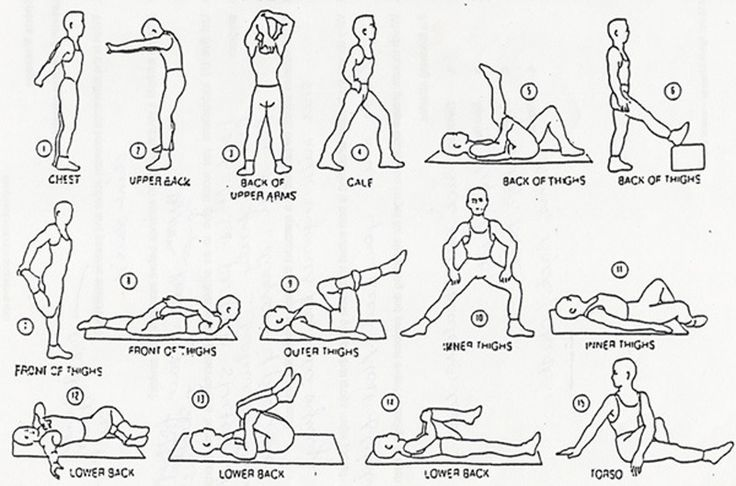Here are warm up stretches to do before running. I've done